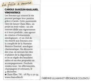 Article Elle - 2 décembre 2012
