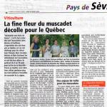article Pays de Sèvre   Le Québec