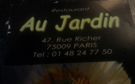 Restaurant Au Jardin