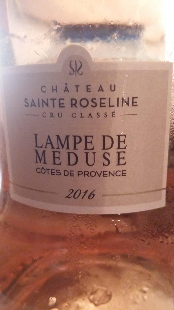 Lampe de Méduse  Rosé  Cru Classé Château Sainte Roseline