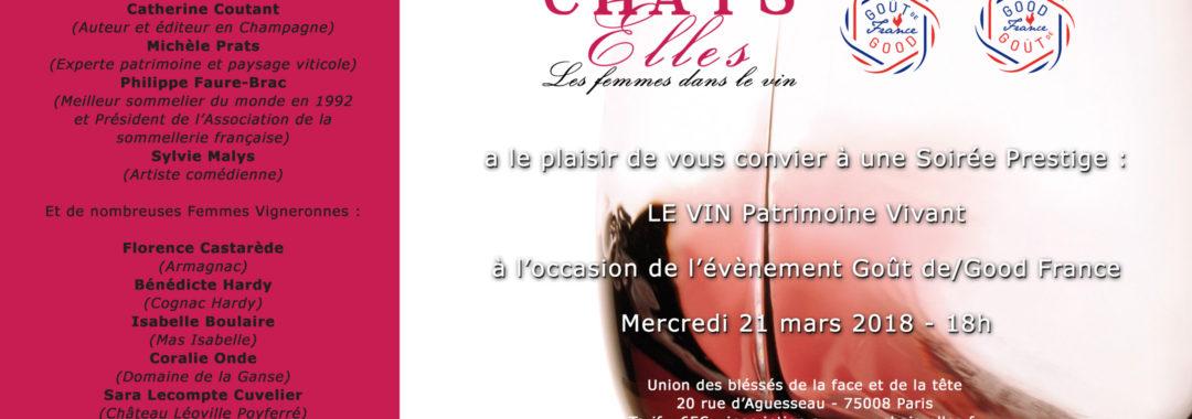 Soirée Prestige Vin Patrimoine Vivant