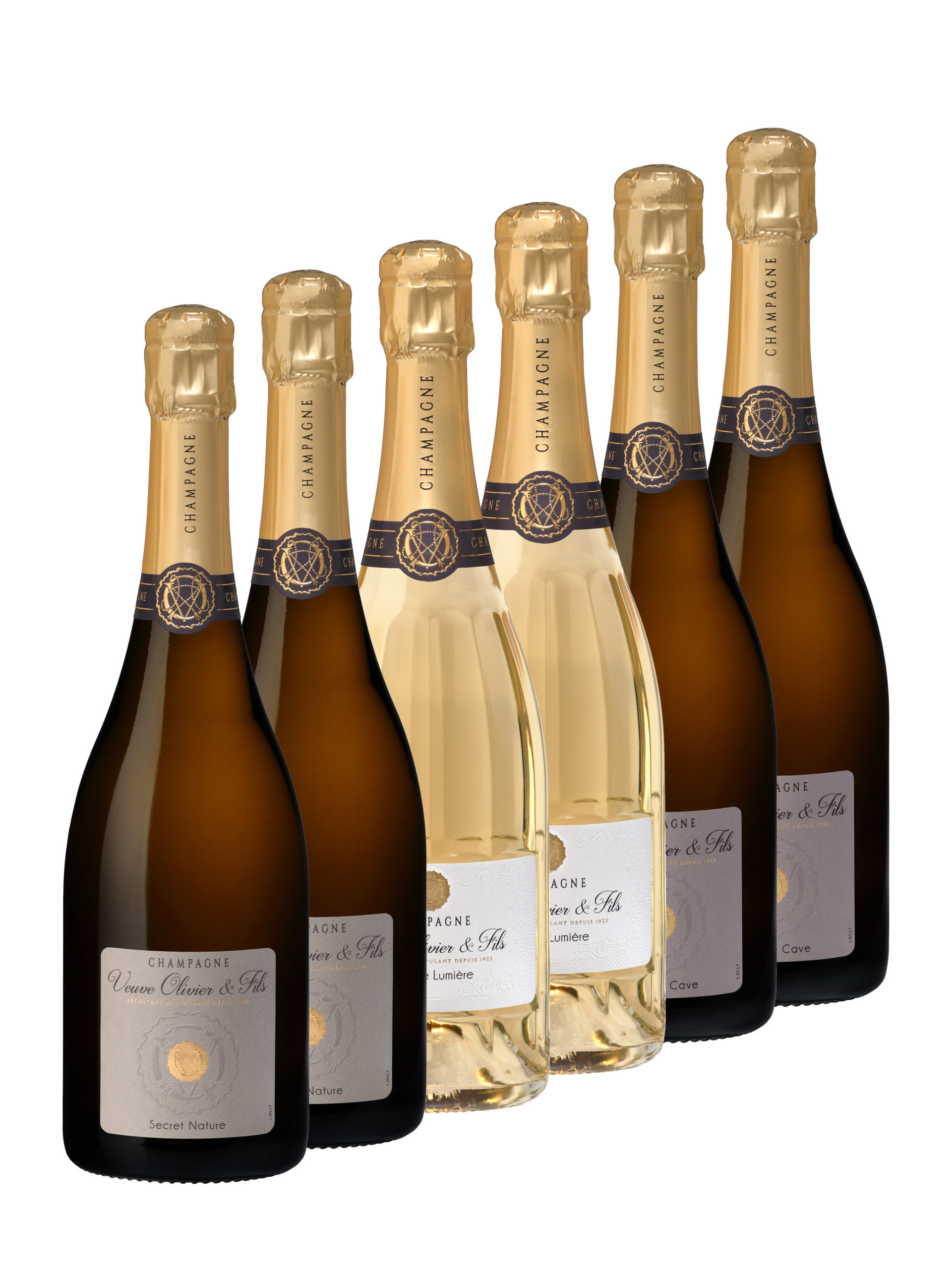 Coffret 6 Champagne Veuve Olivier & Fils